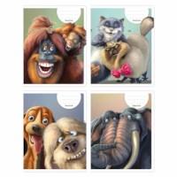 Schriften - Animatie dieren | Heutink | Liniatuur 24 lijnen | 25 stuks