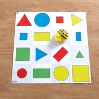 Bee-Bot | Mat | Gekleurde figuren