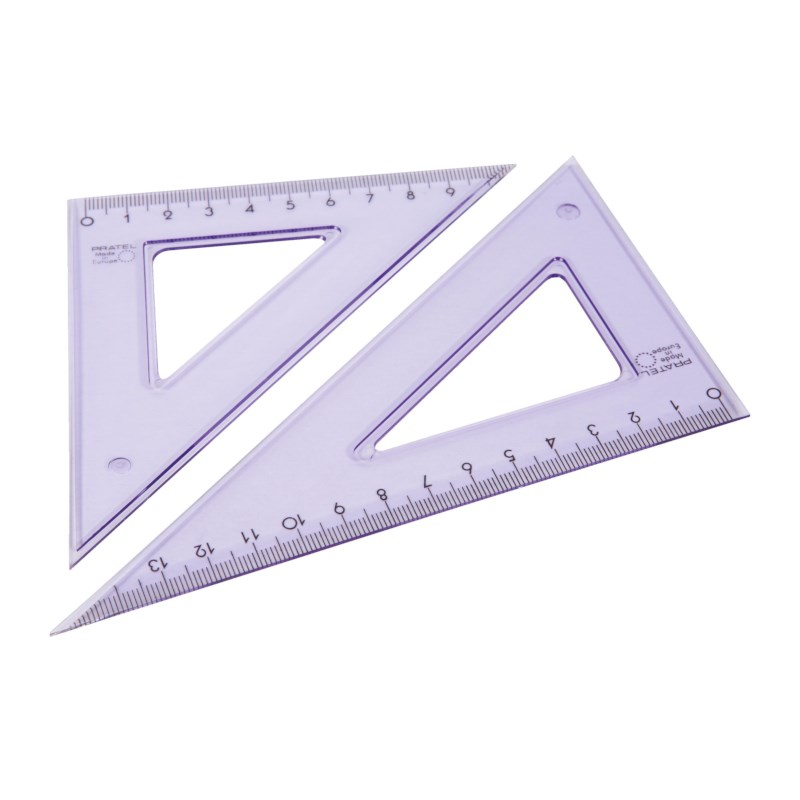 Tekendriehoek | 16 cm, 45/60°