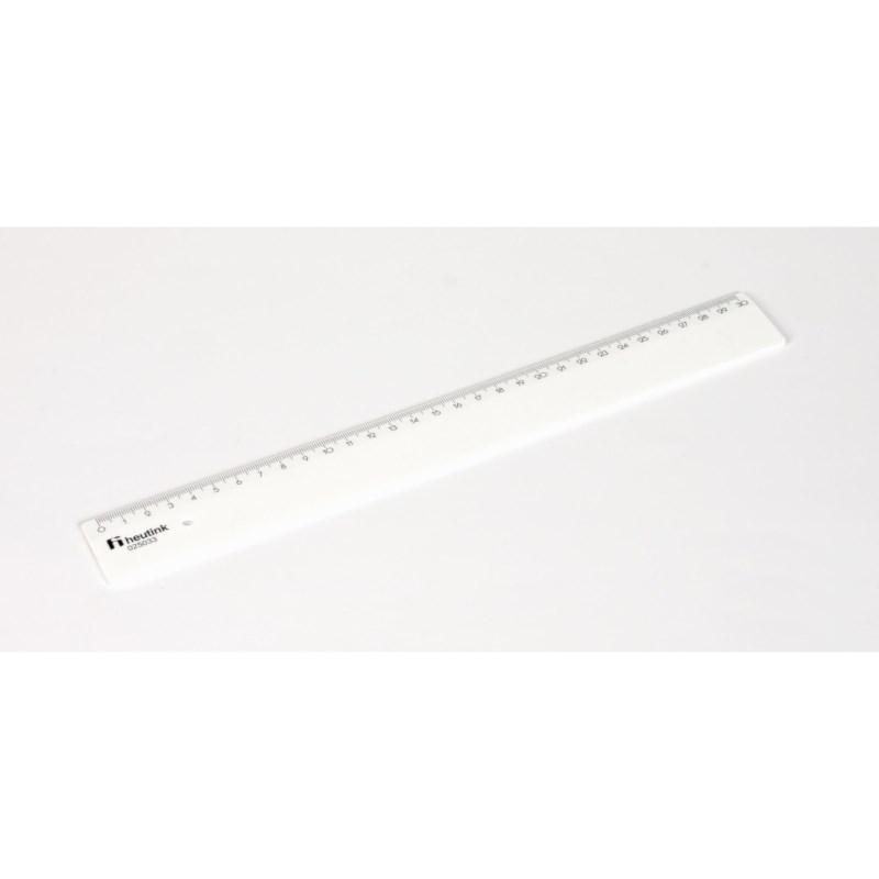 Stevige plastic liniaal | 30 cm