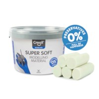 Klei | Creall-supersoft | Wit | 1750 gram