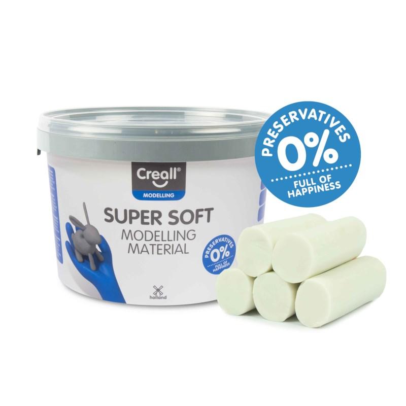 Klei | Creall-supersoft | Wit | 1750 gram