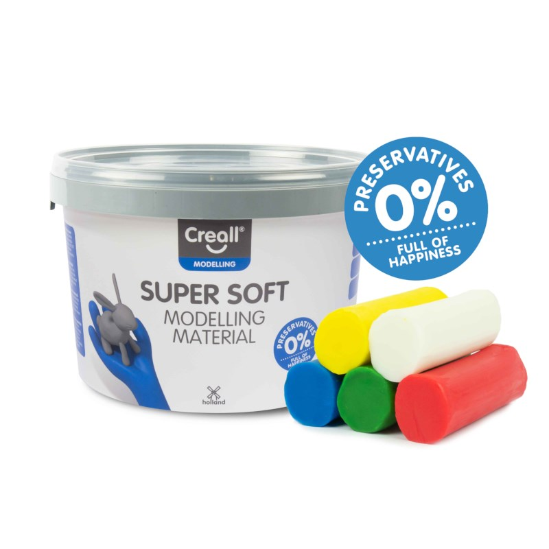 Klei | Creall-supersoft | Assorti | 1750 gram