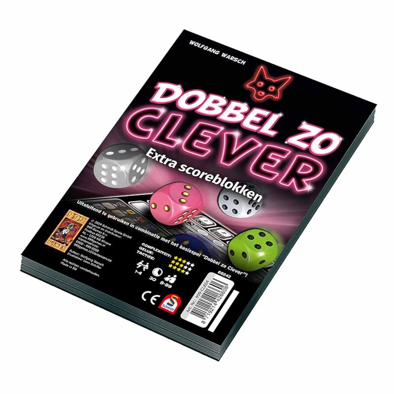 Scoreblokken Dobbel zo Clever   999 games   2 stuks