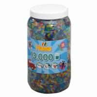 Strijkkralen | Hama Midi | Assorti transparant met glitter | Pot 13.000 stuks