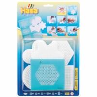 Strijkkralen onderlegplaten klein | Hama Bead-Tac | Wit | Set 7711 | 5 stuks