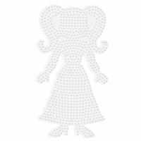Strijkkralen onderlegplaat | Hama Midi | Wit | Pop | 23 cm