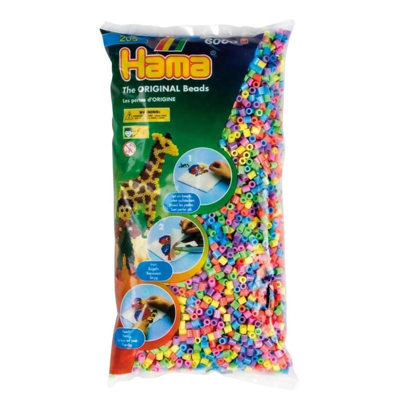 Strijkkralen   Hama   Assorti pastel   6000 stuks