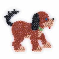 Strijkkralen onderlegplaat   Hama   Wit   Hond   12 cm