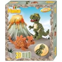 Strijkkralen Hama | 3D Dino's
