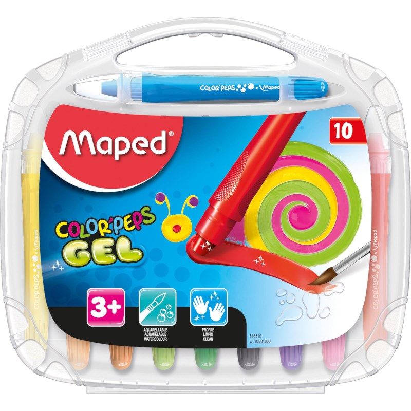Gelkrijt moothy   Maped   10 kleuren assorti