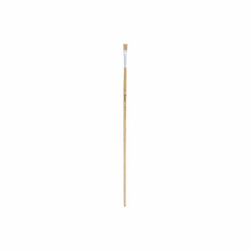 Lyonse penseel lang nr. 4 set van 12 stuks | platte bus 6 mm | Heutink