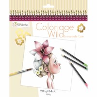 Kleurboek | Coloriage Wild 1 | 20 x 20 cm
