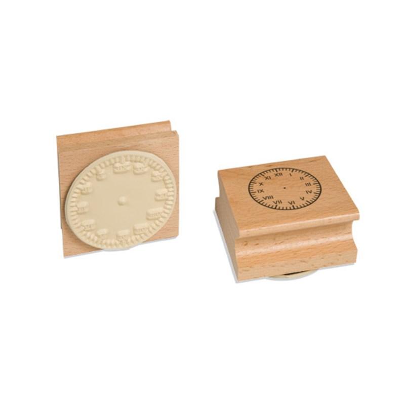 Klokstempel | 6 cm | Romeinse cijfers