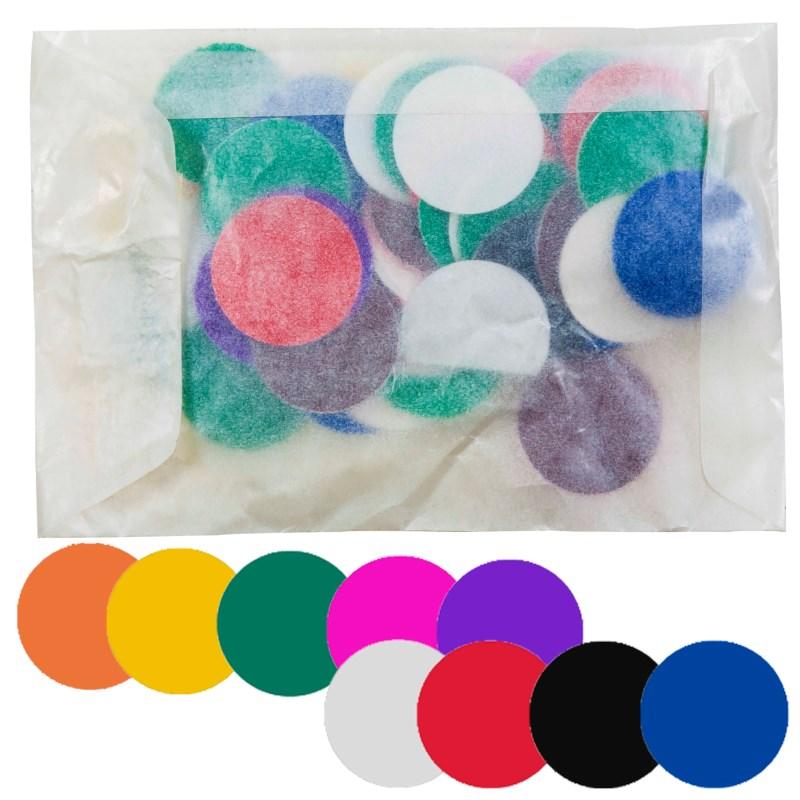 Plakfiguren Cirkels | 25 mm | Assorti