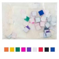 Plakfiguren vierkanten | 10 mm | Assorti