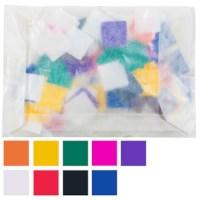 Plakfiguren vierkanten | 16 mm | Assorti