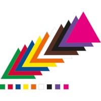 Plakfiguren | Driehoeken | 55 mm gelijkzijdig | Assorti