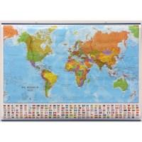 Wereldkaart | Geplastificeerd | 101 x 72 cm