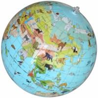 Wereldbol | Dieren Opblaasbaar | Ø 30 cm