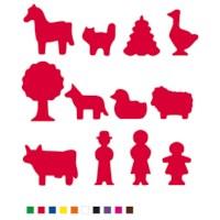 Plakfiguren jumbo | Assortiment à 12 zakjes