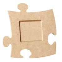 MDF   Puzzel fotolijst   Vierkant 12 x 12 cm