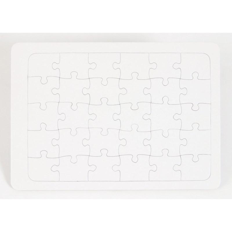 Puzzel   Karton blanco