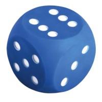 Dobbelsteen met stippen | 10 cm | Blauw