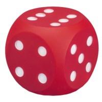 Dobbelsteen met stippen | 10 cm | Rood