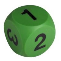 Dobbelsteen met cijfers | Groen