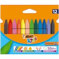 Kleurkrijt | Bic Kids | Plastidecor Triangle | Assortiment | 12 stuks