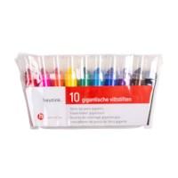 Viltstiften |Gigantjes | Heutink | Etui à 10 kleuren