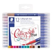 Kalligrafieset | Duo pennen | Set à 12 kleuren