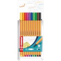 Fineliner | Stabilo point 88 | Set à 10 kleuren