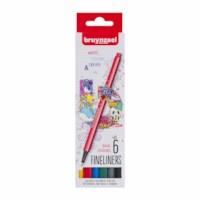 Fineliner | Bruynzeel | Punt 0.4 mm | 6 kleuren
