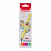 Fineliner | Bruynzeel | Punt 0.4 mm | 6 neon kleuren