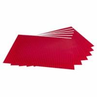 Dakpannenpapier   Rood   50 vel