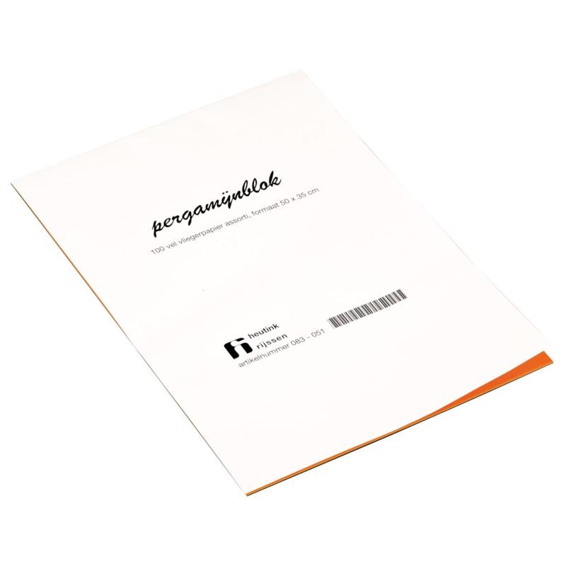 Vliegerpapier | Blok à 100 vel | Assorti