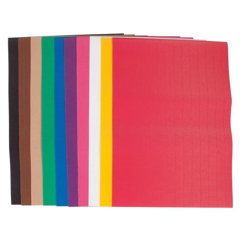 Golfkarton | Vel 50 x 70 cm | Assorti kleuren | Pak à 10 vel