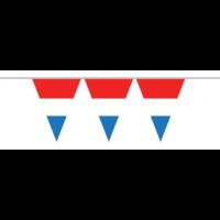 Vlaggenlijn 10 meter | Kunststof rood/wit/blauw