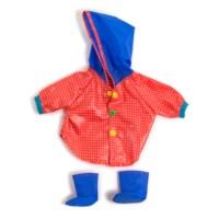 Poppenkleertjes | Regenjas met laarzen | Voor poppen van 40 - 45 cm