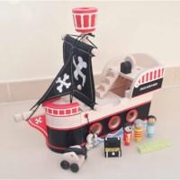 Piratenboot   Hout   Incl. figuren