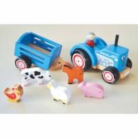 Tractor met aanhanger | Hout | Incl. boerderijdieren