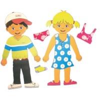 Aankleedfiguren jongen en meisje