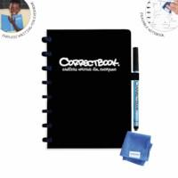 Uitwisbaar notitieboek | Correctbook | Zwart | A5 | Gelinieerd