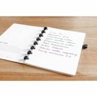 Uitwisbaar notitieboek   Correctbook   Zwart   A5   Gelinieerd