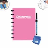 Uitwisbaar notitieboek | Correctbook | Roze | A5 | Gelinieerd