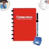 Uitwisbaar notitieboek | Correctbook | Rood | A5 | Gelinieerd
