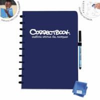Uitwisbaar notitieboek | Correctbook | Navy Blue | A4 | Gelinieerd