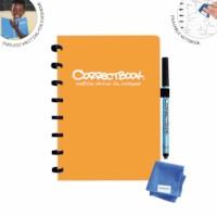 Uitwisbaar notitieboek | Correctbook | Peachy orange | A5 | Gelinieerd